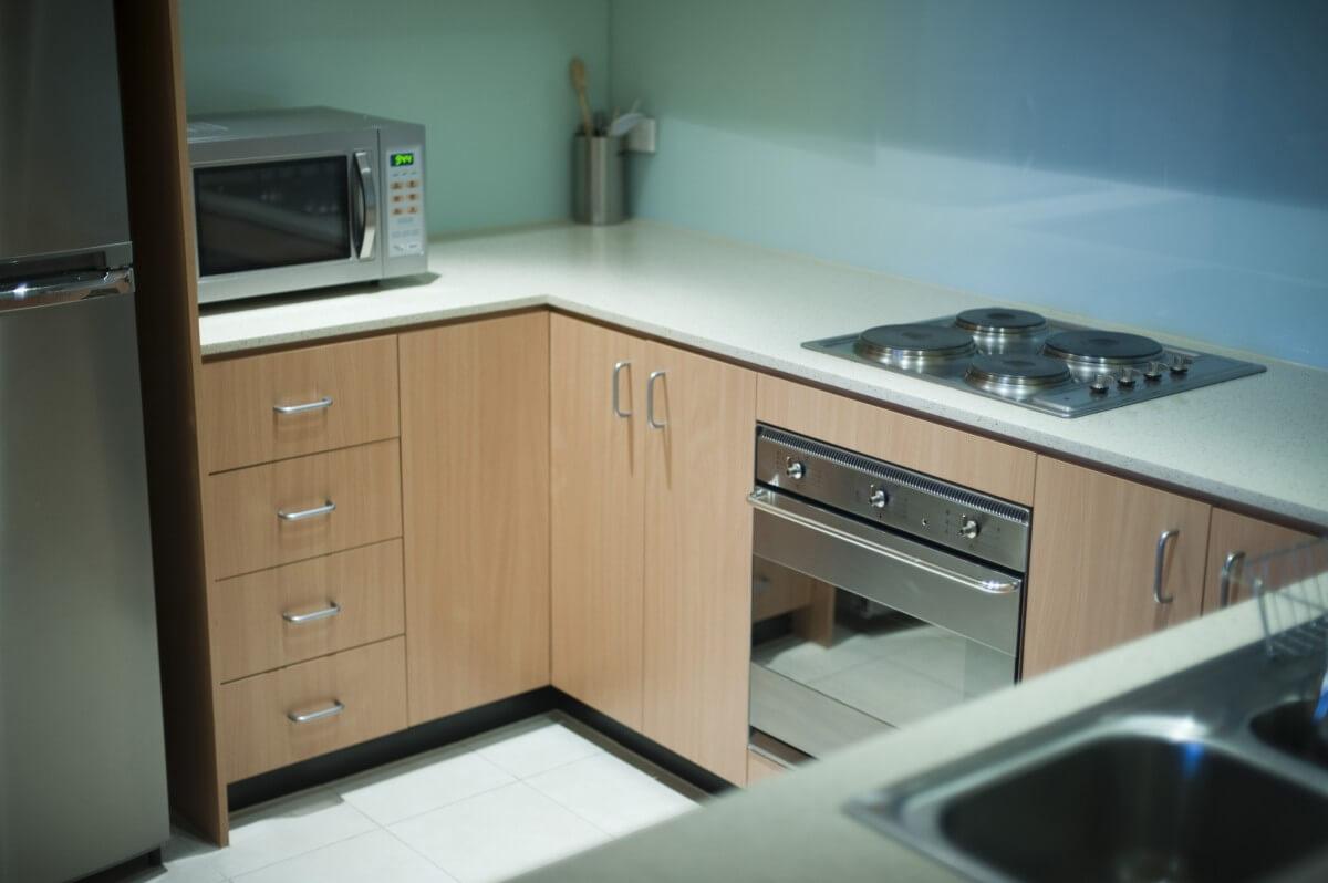 Neat compact modern kitchen